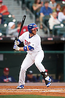 Buffalo Bisons second baseman David Adams (21) at bat during a game against the Lehigh Valley IronPigs on July 9, 2016 at Coca-Cola Field in Buffalo, New York.  Lehigh Valley defeated Buffalo 9-1 in a rain shortened game.  (Mike Janes/Four Seam Images)