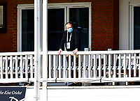 Kent Director of Cricket Paul Downton looks on during Kent CCC vs Lancashire CCC, LV Insurance County Championship Group 3 Cricket at The Spitfire Ground on 24th April 2021
