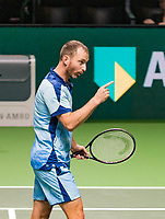 Rotterdam, The Netherlands, 14 Februari 2019, ABNAMRO World Tennis Tournament, Ahoy, quarter finals, doubles, Matwe Middelkoop (NED), <br /> Photo: www.tennisimages.com/Henk Koster