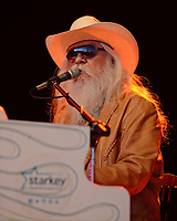 BOCA RATON FL - JANUARY 18 : Leon Russell performs at The Sunshine Blues Festival at The Mizner Park Ampitheatre on January 18, 2014 in Boca Raton, Florida.<br /> <br /> <br /> People:  Leon Russell