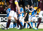 St Johnstone v Hearts…05.04.17     SPFL    McDiarmid Park<br />Joe Shaughnessy celebrates his goal with Brian Easton<br />Picture by Graeme Hart.<br />Copyright Perthshire Picture Agency<br />Tel: 01738 623350  Mobile: 07990 594431