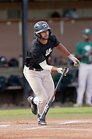 Jason Matthews (11) of the University of South Carolina Upstate Spartans bats in the Green and Black Fall World Series Game 2 on Saturday, October 31, 2020, at Cleveland S. Harley Park in Spartanburg, South Carolina. Green won, 6-5. (Tom Priddy/Four Seam Images)