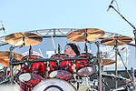 Drummer Jason Bonham rocks out during the concert before the NASCAR AAA Texas 500 race at Texas Motor Speedway in Fort Worth,Texas.