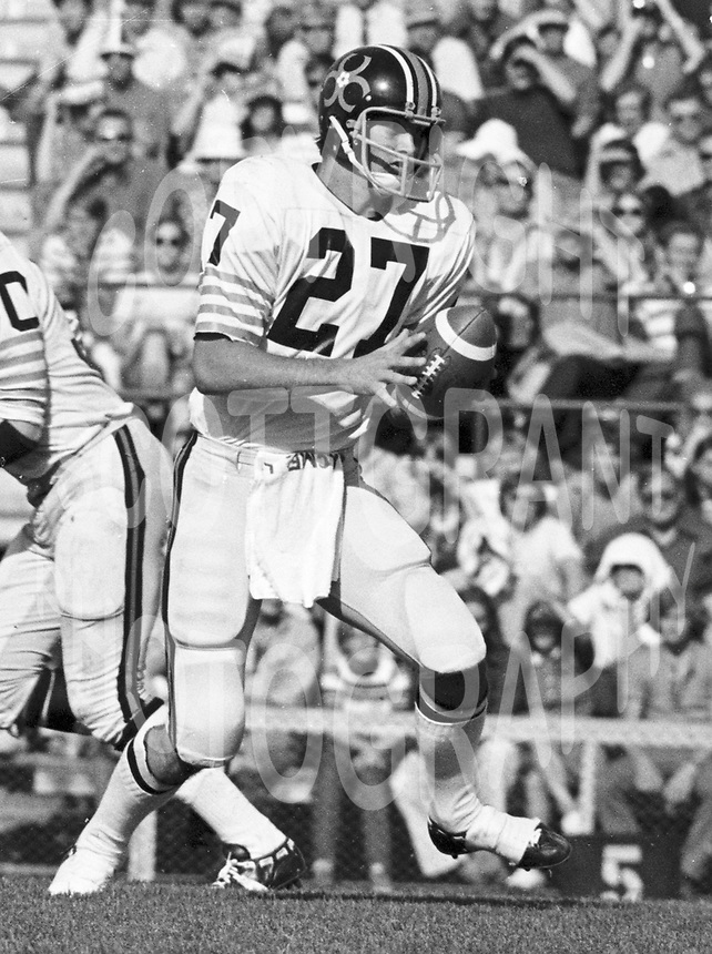 Don Moorhead BC Lions quarterback 1971. Copyright photograph Scott Grant