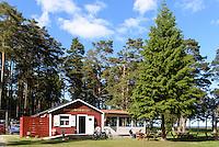 Vitvikens Café und Camping bei Åminne  auf der Insel Gotland, Schweden, Europa<br /> Vitikens Café and Camping near Amine, Isle of Gotland Sweden