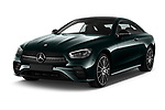 Front three quarter view of a 2021 Mercedes Benz E Class AMG Line 2 Door Coupe