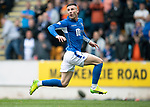 St Johnstone v Rangers…22.09.19   McDiarmid Park   SPFL<br />Michael O'Halloran reacts as his shot is saved by Allan McGregor<br />Picture by Graeme Hart.<br />Copyright Perthshire Picture Agency<br />Tel: 01738 623350  Mobile: 07990 594431