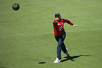 England's Lauren Winfield-Hill warms up for the 2nd international women's T20 cricket match between the New Zealand White Ferns and England at Sky Stadium in Wellington, New Zealand on Friday, 5 March 2021. Photo: Dave Lintott / lintottphoto.co.nz
