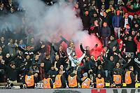 Ultras, Fans (Germany) and Bengalos, Tschechische Republik vs. Germany, Football, WM-Qualifikation, 01.09.2017 *** Local Caption *** © pixathlon<br /> Contact: +49-40-22 63 02 60 , info@pixathlon.de