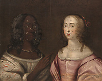 BNPS.co.uk (01202 558833)<br /> Pic: Trevanion/BNPS<br /> <br /> A previously-unknown 17th century painting of a black and a white woman as social equals has sold for over £250,000 after museums wanting to increase the diversirty of their collections clammered to buy it.<br /> <br /> The oil on canvas painting was produced by an unnamed English artist in about 1650. <br /> <br /> The double portrait is rare as it not only showed a black woman from the Cromwellian period but that she was of the same class as the white woman next to her.