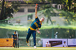 Captain Sarel Erwee of South Africa bowls during Day 1 of Hong Kong Cricket World Sixes 2017 Group A match between Marylebone Cricket Club vs South Africa at Kowloon Cricket Club on 28 October 2017, in Hong Kong, China. Photo by Vivek Prakash / Power Sport Images