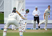 Pakistan's Abid Ali leaves a ball from Tim Southee during day four of the second International Test Cricket match between the New Zealand Black Caps and Pakistan at Hagley Oval in Christchurch, New Zealand on Wednesday, 6 January 2021. Photo: Dave Lintott / lintottphoto.co.nz