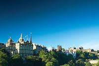 The Mound and Edinburgh Castle from Princes Street, Edinburgh