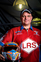 Oct. 31, 2008; Las Vegas, NV, USA: NHRA funny car driver Tim Wilkerson poses for a portrait during qualifying for the Las Vegas Nationals at The Strip in Las Vegas. Mandatory Credit: Mark J. Rebilas-