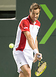 Richard Gasquet (FRA) defeats Tomas Berdych (CZE) 6-3, 6-3, at the Sony Open being played at Tennis Center at Crandon Park in Miami, Key Biscayne, Florida on March 28, 2013