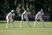 The Harold Wood slips during Wanstead and Snaresbrook CC vs Harold Wood CC, Hamro Foundation Essex League Cricket at Overton Drive on 17th July 2021