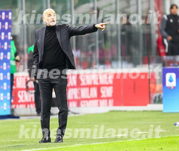 Milano 03-03-2021<br /> Stadio Giuseppe Meazza<br /> Serie A  Tim 2020/21<br /> Milan - Udinese<br /> nella foto: Stefano Pioli Allenatore Milan                                                         <br /> Antonio Saia