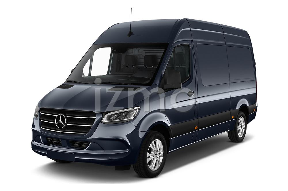 2019 Mercedes Benz Sprinter-Fourgon - 4 Door Cargo Van Angular Front stock photos of front three quarter view