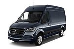 2019 Mercedes Benz Sprinter-Fourgon - 4 Door Cargo Van Angular Front stock photos of front three quarter view