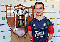 SCHOOLS CUP DRAW 2016 | Monday 16th November 2015<br /> <br /> Coleraine Grammar School captain David Greatotex - Ulster Schools Cup draw at Kingspan Stadium, Ravenhill Park, Belfast, Northern Ireland.<br /> <br /> Photo credit: John Dickson / DICKSONDIGITAL