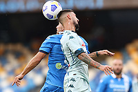 Matteo Politano of SSC Napoli compete for the ball<br /> during the friendly football match between SSC Napoli and Pescara Calcio 1936 at stadio San Paolo in Napoli, Italy, September 11, 2020. <br /> Photo Cesare Purini / Insidefoto
