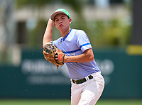 Seacrest Country Day Stingrays Matt Riley (4) during the 42nd Annual FACA All-Star Baseball Classic on June 5, 2021 at Joker Marchant Stadium in Lakeland, Florida.  (Mike Janes/Four Seam Images)
