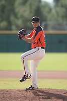 San Francisco Giants relief pitcher Jesus Tina (22) prepares to deliver a pitch to the plate during an Instructional League game against the Kansas City Royals at the Giants Training Complex on October 17, 2017 in Scottsdale, Arizona. (Zachary Lucy/Four Seam Images)