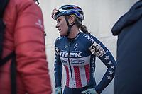 Katie Compton (USA/KFC Racing p/b Trek/Panache) after finishing 3th place.<br /> <br /> women's elite race<br /> Flandriencross Hamme / Belgium 2017