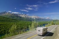 Long lake along the Glenn Highway, Chugach mountains. Alaska