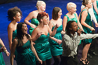 """The ACM Gospel Choir performing.  Special Olympics Surrey put on a show,   """"Beyond the Stars"""", at the Rose Theatre, Kingston upon Thames to raise money for the  SOGB team.  The Special Olympics are for athletes with learning disabilities."""