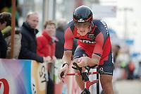 Marcus Burghardt (DEU) finishing<br /> <br /> 3 Days of West-Flanders 2014<br /> day 1: TT/prologue Middelkerke 7,0 km