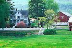 Farmscape near State College, PA in Spring.Oliver Farm