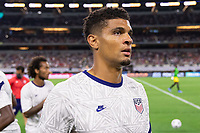 DALLAS, TX - JULY 25: Miles Robinson of the United States during a game between Jamaica and USMNT at AT&T Stadium on July 25, 2021 in Dallas, Texas.