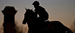April 3, 2015: Scenes from around the track at sunrise during morning workouts on Bluegrass Stakes Day at Keeneland Race Course in Lexington, Kentucky. Scott Serio/CSM