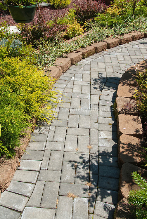 Stone pathway leading to front entry for curb appeal
