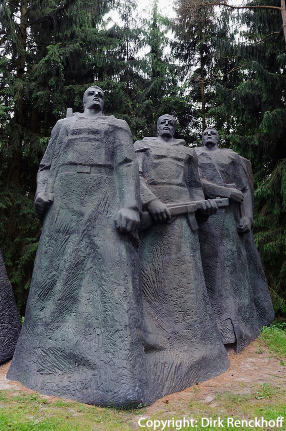 Grüppe von 1983 im Ausstellungsgelände Grutas-Park, Litauen, Europa