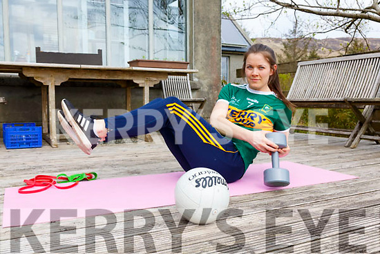 Kerry Captain Anna Galvin keeps up with her training at home with drills and exercises.