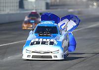 Feb 11, 2017; Pomona, CA, USA; NHRA top alcohol funny car driver Jonnie Lindberg during the Winternationals at Auto Club Raceway at Pomona. Mandatory Credit: Mark J. Rebilas-USA TODAY Sports