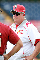 Pitching Coach Scott McGregor of the China National Team during a game vs. the Houston Astros Instructional League team at Holman Stadium in Vero Beach, Florida September 28, 2010.   China is in Florida training for the Asia games which will be played in Guangzhou, China in November.  Photo By Mike Janes/Four Seam Images