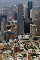 aerial photograph of downtown Houston, Texas