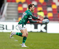 27th March 2021; Brentford Community Stadium, London, England; Gallagher Premiership Rugby, London Irish versus Bath; Ben Meehan of London Irish passes the ball