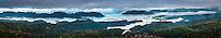 Sunset over Whanganui Inlet on west coast, Nelson Region, South Island, New Zealand
