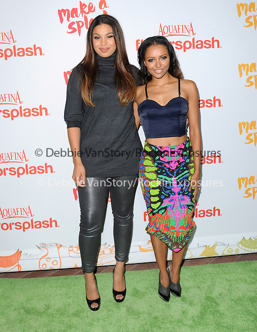 Jordin Sparks and Kat Graham attends The Aquafina FlavorSplash Launch held at Sony Pictures Studios  in Culver City, California on October 15,2012                                                                               © 2013 Hollywood Press Agency