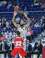 13th October 2021; Wizink Center; Madrid, Spain; Turkish Airlines Euroleague Basketball; game 3; Real Madrid versus AS Monaco; Vincent Poirier (Real Madrid Baloncesto) receives a pass during the match