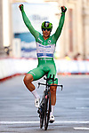 Fabio Jakobsen (NED) Deceuninck-Quick-Step wins the points Green Jersey at the end of Stage 21 final stage of La Vuelta d'Espana 2021, an individual time trial running 33.8km from Padron to Santiago de Compostela, Spain. 5th September 2021.    <br /> Picture: Luis Angel Gomez/Photogomezsport | Cyclefile<br /> <br /> All photos usage must carry mandatory copyright credit (© Cyclefile | Luis Angel Gomez/Photogomezsport)
