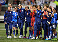 New Orleans, Louisiana - Wednesday, December 16, 2015: The USWNT lose to China 0-1 during their Victory Tour at Mercedes-Benz Superdome.