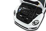 Car stock 2019 Volkswagen Beetle S 5 Door Hatchback engine high angle detail view