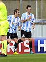 24/04/2010   Copyright  Pic : James Stewart.sct_jsp006_falkirk_v_hamilton  .::  MARCO PAIXAO (RIGHT) CELEBRATES WITH BROTHER FLAVIO PAIXAO AFTER HE SCORES THE FIRST ::  .James Stewart Photography 19 Carronlea Drive, Falkirk. FK2 8DN      Vat Reg No. 607 6932 25.Telephone      : +44 (0)1324 570291 .Mobile              : +44 (0)7721 416997.E-mail  :  jim@jspa.co.uk.If you require further information then contact Jim Stewart on any of the numbers above.........