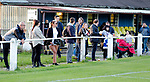 Pix Magi Haroun 26.08.2020<br /> <br /> REPORTER: Gideon Brooks:<br /> Pix shows the first crowd of 150 fans let in to watch Daisy Hill FC v Bury FC.Fans awaits the start of the match