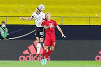 02nd June 2021, Tivoli Stadion, Innsbruck, Austria; International football friendly, Germany versus Denmark;  Robin Gosens and Daniel Wass of Denmark